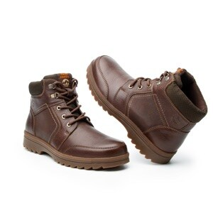 Bota Para Outdoor Flexi Country Con Sistema Walking Soft Para Hombre - Estilo 50704 Chocolate
