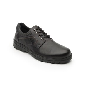 Zapato Para Outdoor Flexi Country Con Sistema Walking Soft Para Hombre - Estilo 50705 Negro