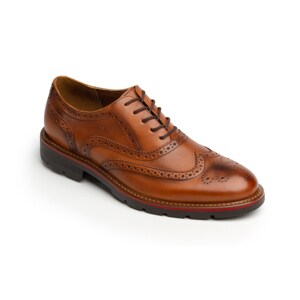 Zapato Oxford Bostoniano Quirelli Con Brillo Natural Para Hombre - Estilo 88602 Tan